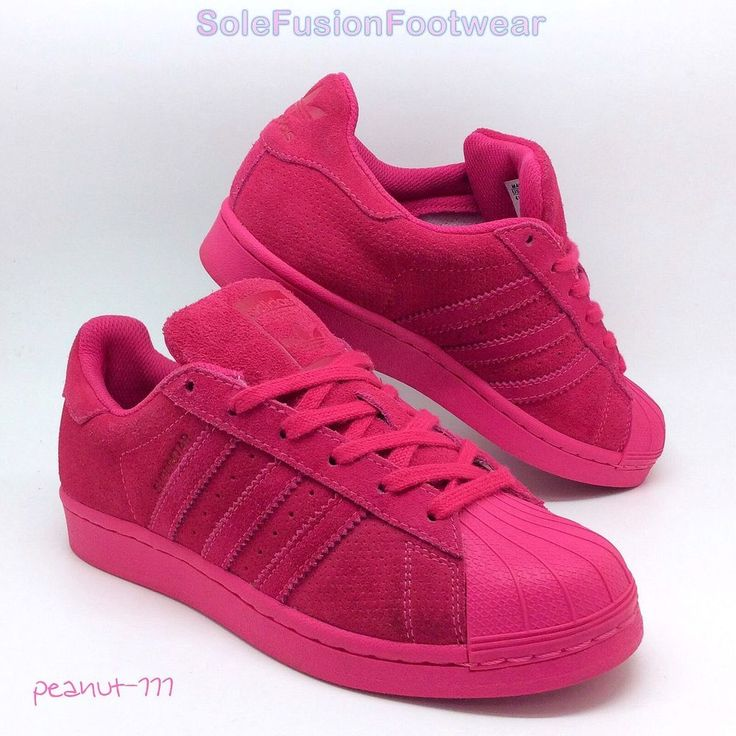 adidas Womens Superstar Trainers Pink sz 4 Girls Rare Sneakers US 4.5 EU 36 2/3