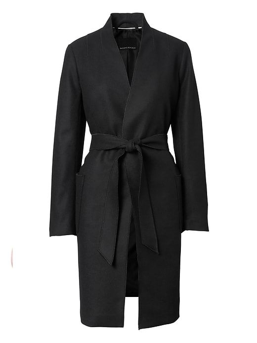Banana Republic Italian Melton Wool Blend Robe Coat
