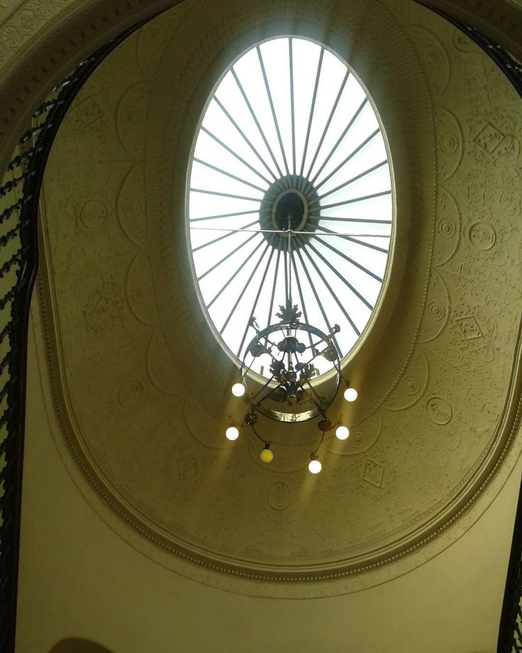 Pretty Ceilings and sky lights #Ceiling #Window #Stairwell #Chandelier