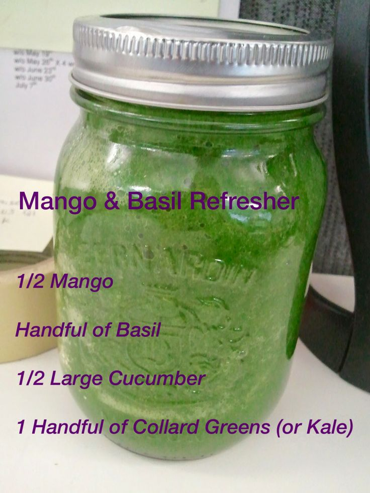 Great summer smoothie - Mango and Basil refresher