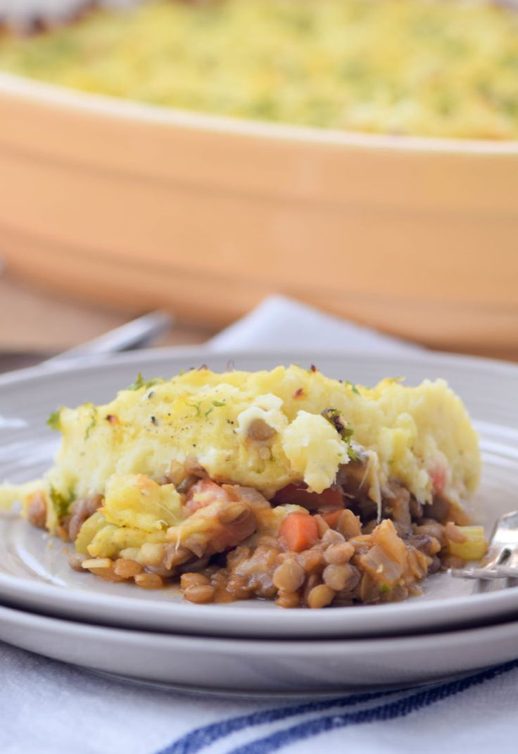 Lentil Shepherd's Pie is a vegetarian version of the classic casserole. Made with a mashed potato and parsnip crust for extra flavor and nutrition.