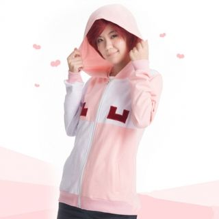 Kagero Project cosplay Momo hoodies girls pink zip up hoodies