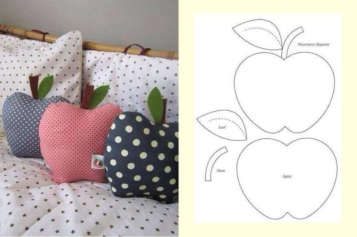 Apple pillows - dieses Mal mit Schnittmuster