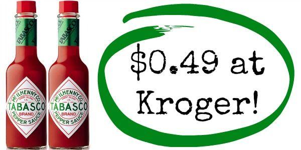 Kroger: Tabasco Pepper Sauce Only $0.49!