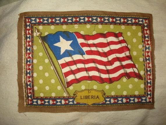 Vintage FLAG of LIBERIA 8x5 Tobacco Felt by PastPossessionsOnly, $5.95