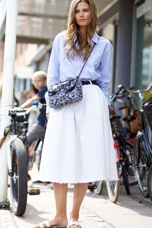 Le Fashion Blog Model Off Duty Street Style Caroline Brasch Nielsen Blue Shirt Preppy Summer Chanel Paisley Bag White Skirt Highsnobiety photo Le-Fashion-Blog-Model-Off-Duty-Street-Style-Caroline-Brasch-Nielsen-Blue-Shirt-Preppy-Summer-Chanel-Paisley-Bag-White-Skirt-Highsnobiety.jpg