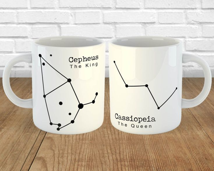 Nerdy Couples Mug Set – Cepheus and Cassiopeia King and Queen Mugs