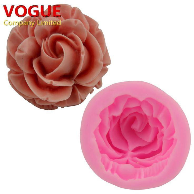 Pas cher Doux Rose Fleur Silicone Fondant Moule Gomme Pâte Sucre Artisanat De…
