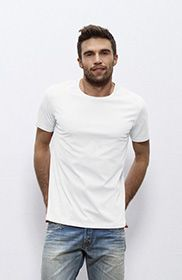 Basic organic cotton T-shirt man