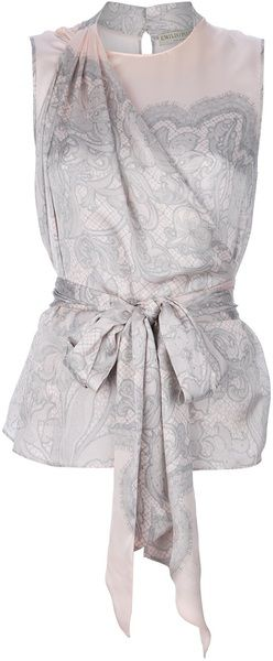 Brocade Pussy Bow Blouse - Lyst