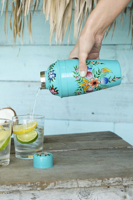 The Floral Hand Painted Cocktail Shaker is perfect for entertaining guests in style! Place this beautiful shaker in your kitchen or on your bar top to show off the beautiful hand-painted design. Pair with our additional bar & entertaining options for a complete look.