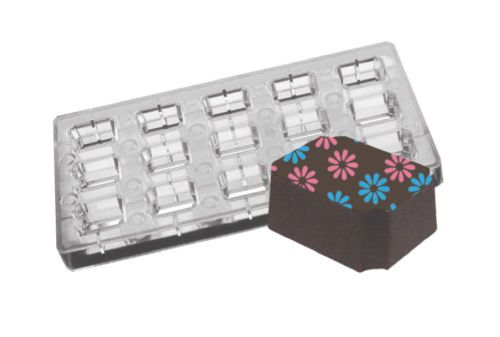 Magnetic Polycarbonate Indented Corner Rectangle Chocolate Mould/Mold Sweets