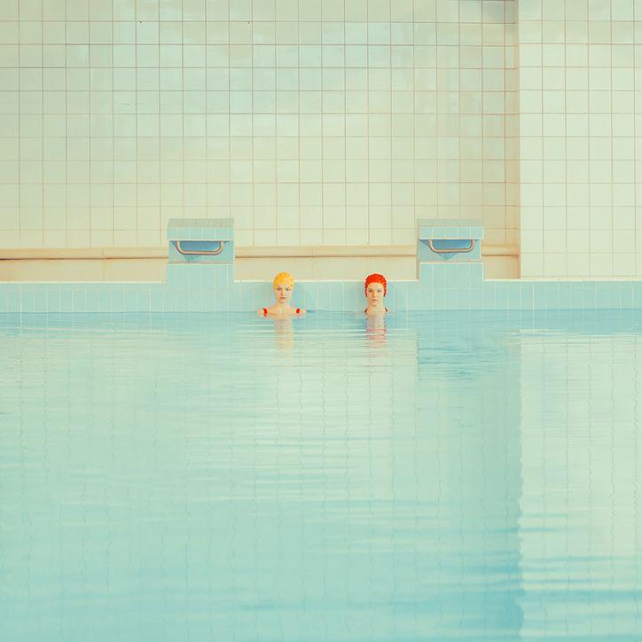 Swimm / photography series by Mária Švarbová. via it's nice that #photography #pool #swim