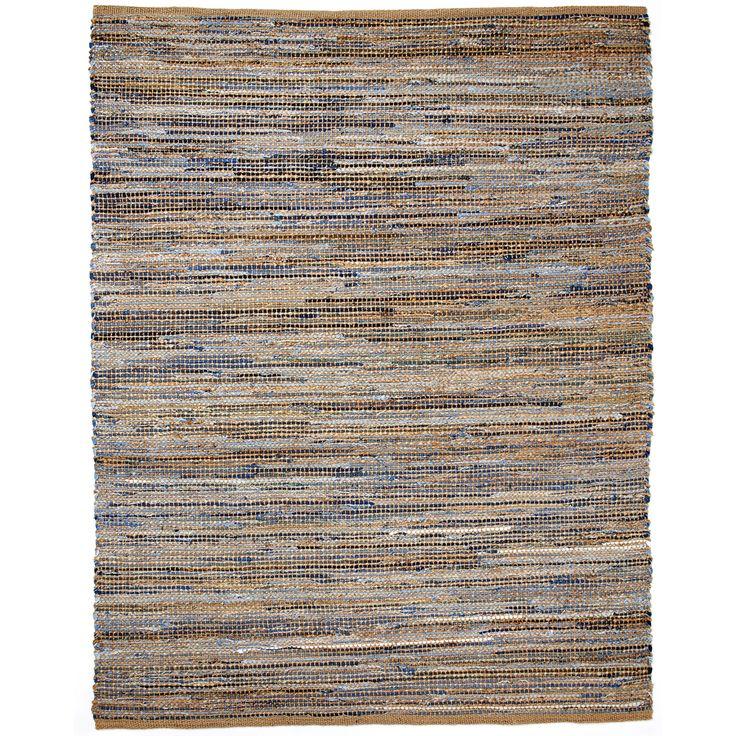 Hand-loomed Oki Denim/Jute Rug (8' x 10') | Overstock.com Shopping - Great Deals on 7x9 - 10x14 Rugs