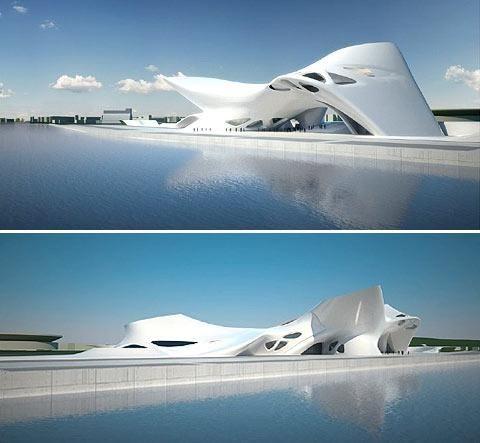 Nuragic and Contemporany Art Museum, Cagliari, Italy : Architect Zaha Hadid
