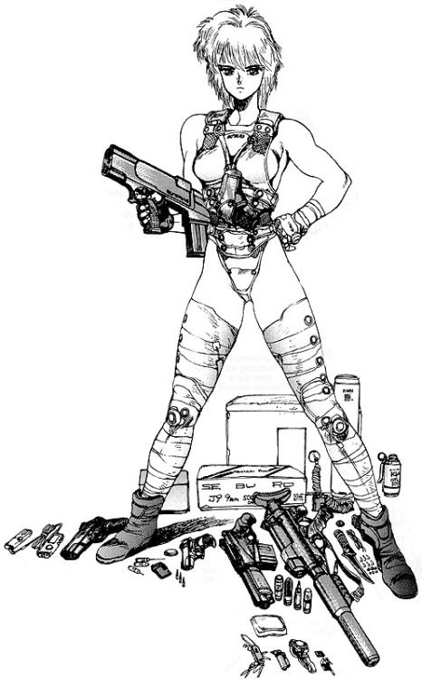 "letshavoc:  ""Deunan Knute by Masamune Shirow  """