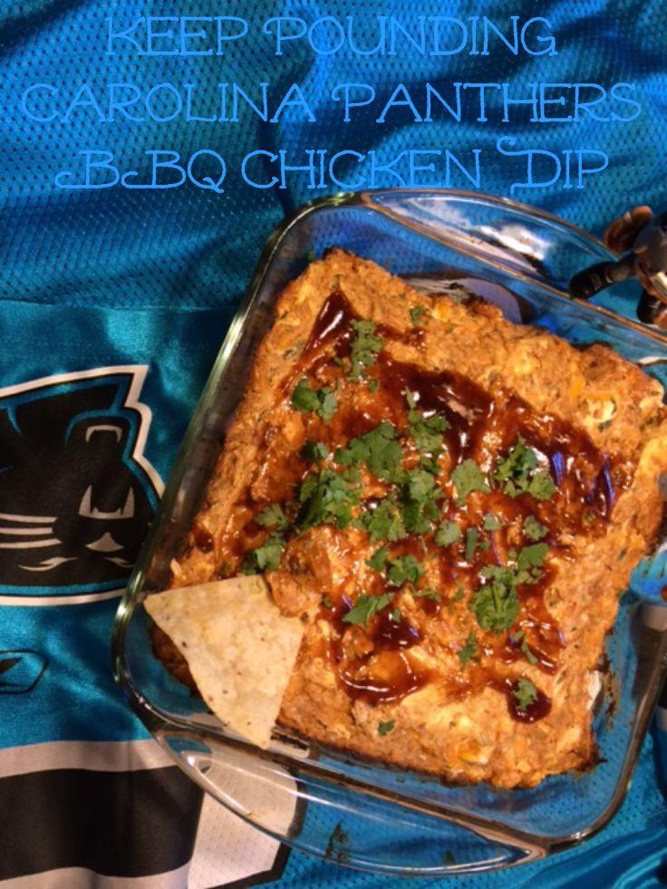 Keep Pounding Carolina Panthers BBQ Chicken Dip, A Super Bowl Ready Dip