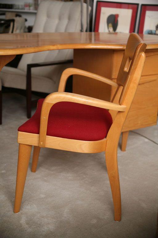 elegant heywood wakefield desk and chair