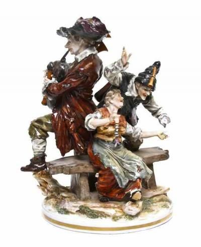 24 best capo di monte appraisal values images on pinterest china capodimonte porcelain figural group depicting three vagrant musicians having crowned n mark price guidemusiciansporcelainchina thecheapjerseys Gallery