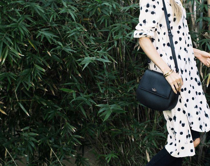classic bag // polka dots