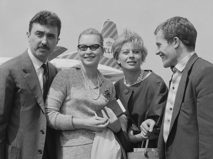 Luciano Emmer, Marina Vlady, Magali Noël en Bernard Fresson (1960) - Magali Noël — Wikipédia