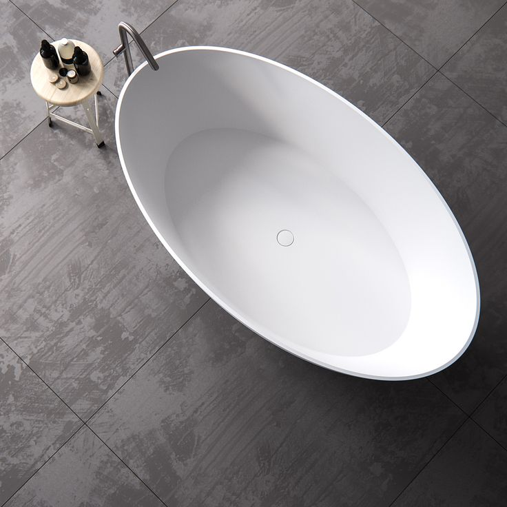 Clay ELLIPSE freestanding oval Solid surface bathtub