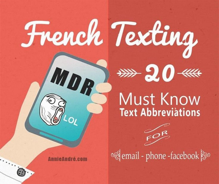 French Texting: 20 Must Know And Common Text Message Abbreviations