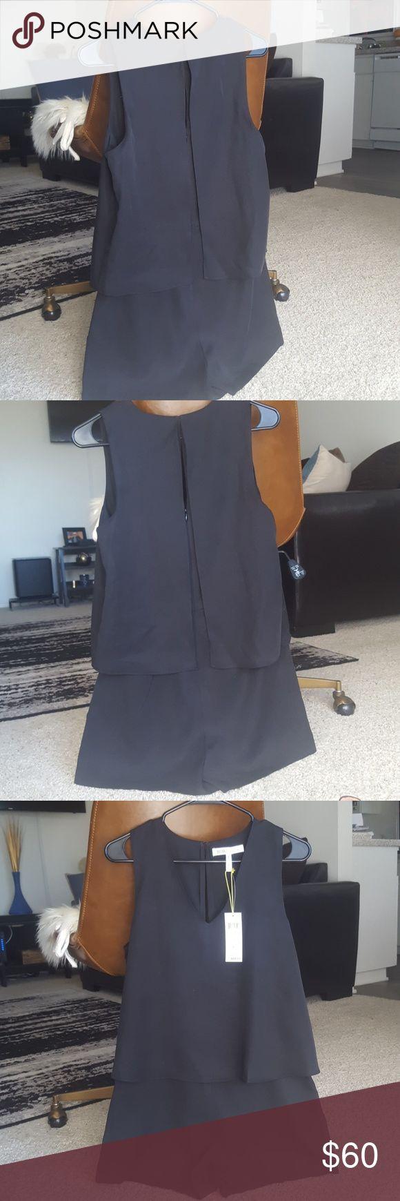 Romper Very cute black romper with zipper on back. BCBGeneration Shorts Skorts