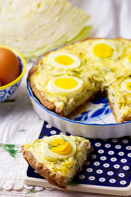 quiche with cabbage and eggs