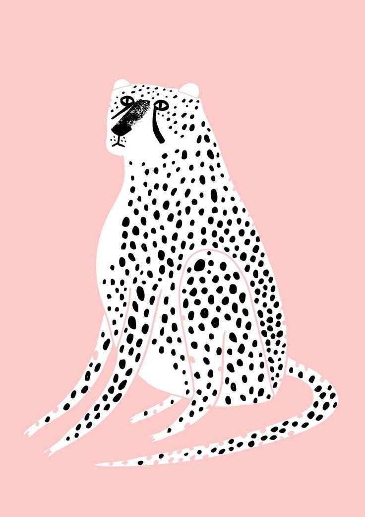 Cheetah Art Leopard Wall Art Kids Art Prints Childrens Wall Art