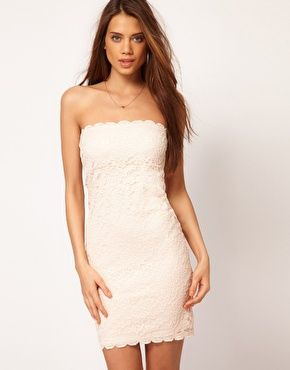 take it: Asos Headband, Dresses Clothing, Bridesmaid Dresses, Receptions Dresses, White Lace Dresses, Lace Style, Pictures, Bandeaus, Bandeau Dresses