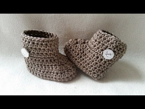▶ Crochet Baby Bootie - Winter Bootie - Babyshoe - Part 1 - Sole by BerlinCrochet - YouTube