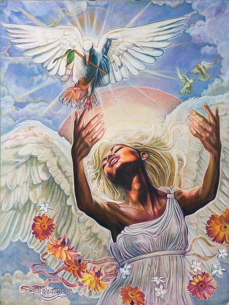 Buena Johnson - Angel of Peace - #BlackArt http://www.shadescalendars.com/prod-24-1-472-10/bms-j-bookmark-set.htm
