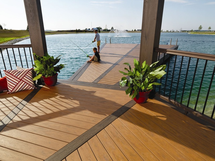 Timbertech xlm decking in harvest bronze picture framed in for Balcony colour combination