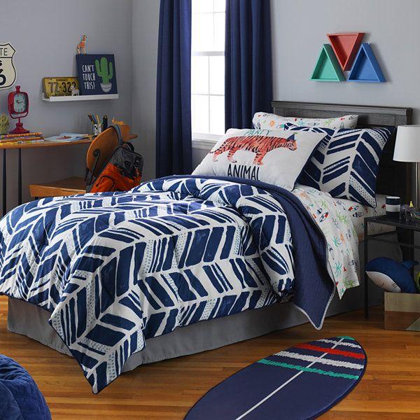 Frank And Lulu Shane Stripes Comforter Set Jcpenney Blue