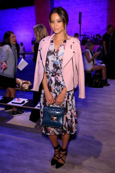 Jamie Chung attends the Rebecca Minkoff fashion show during Mercedes-Benz Fashion Week Spring 2015 at The Pavilion at Lincoln Center on September 5, 2014 in New York City.  (Photo by Chelsea Lauren/Getty Images for Mercedes-Benz Fashion Week)
