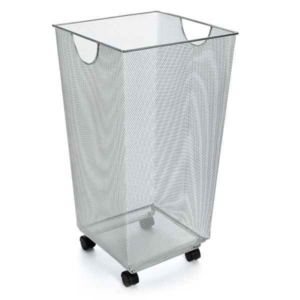 Laundry Hamper With Wheels Part - 38: Silver Mesh Handy Bin With Wheels. Laundry BinLaundry HamperLaundry ...