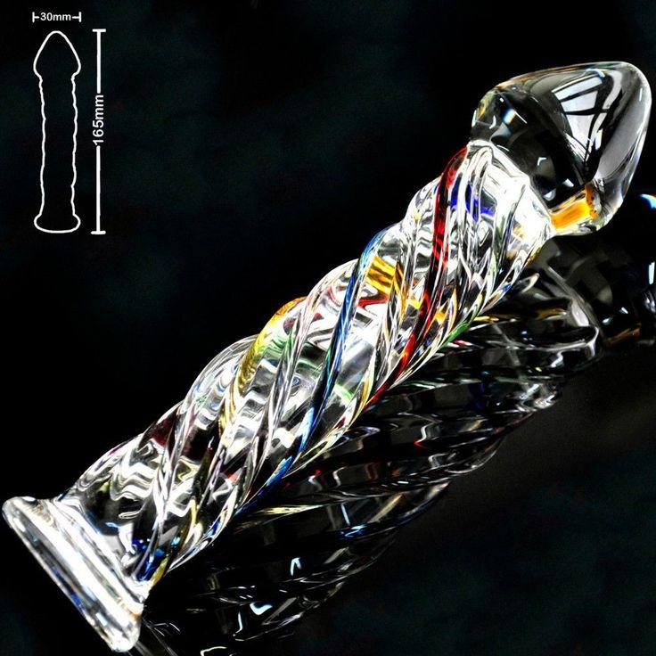 Glass Dildo-Color Twist - 165mm