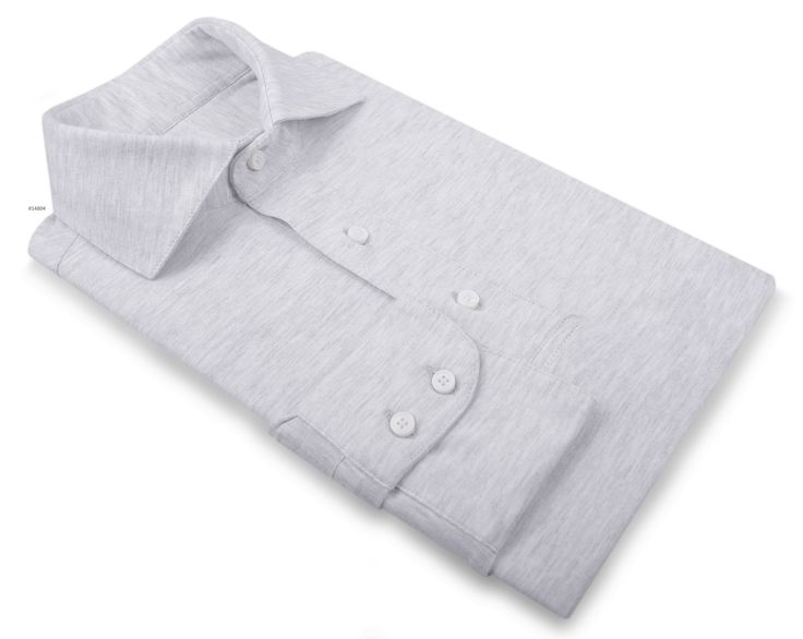 Luxire casual wear constructed in Grey Jersey: http://custom.luxire.com/products/tpr-grey-knit-tpr_grey_jsy_13 Consists of English collar with rear collar height 4cm, collar points 8cm, 0.5″ tie space and double button cuffs.