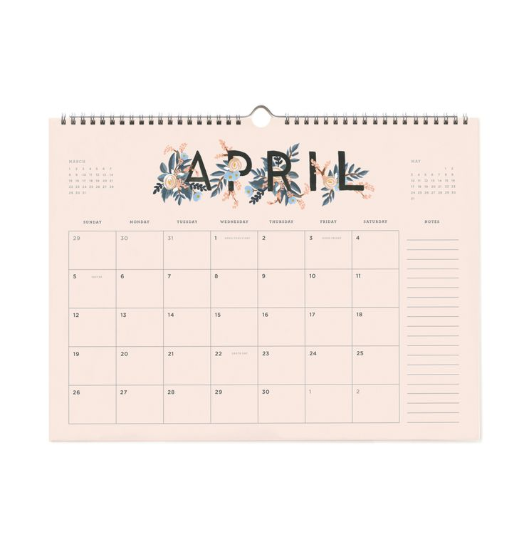 Rifle Paper Company 2015 Appointment Spiral-bound Wall Calendar
