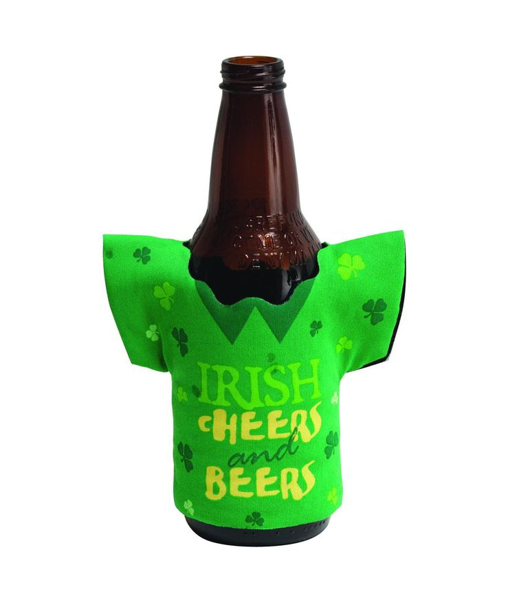 (12/case) Drink Holders, Shape Irish Cheers, St. Patricks Day