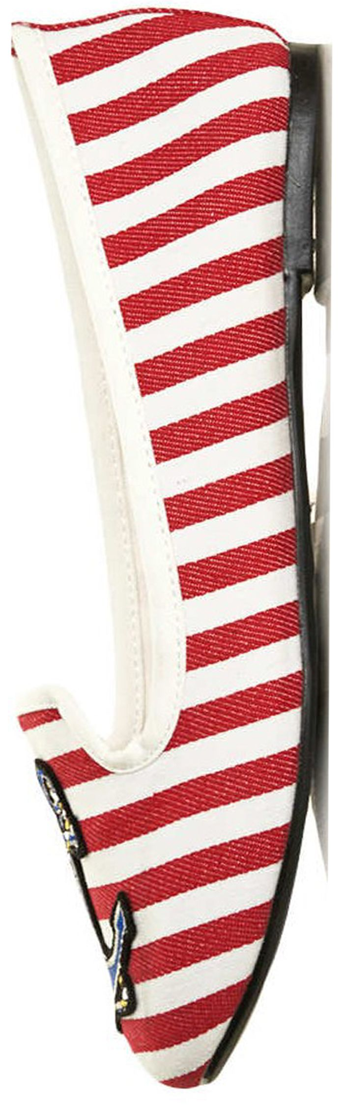red and white striped nautical shoe #nautical #shoe #flats