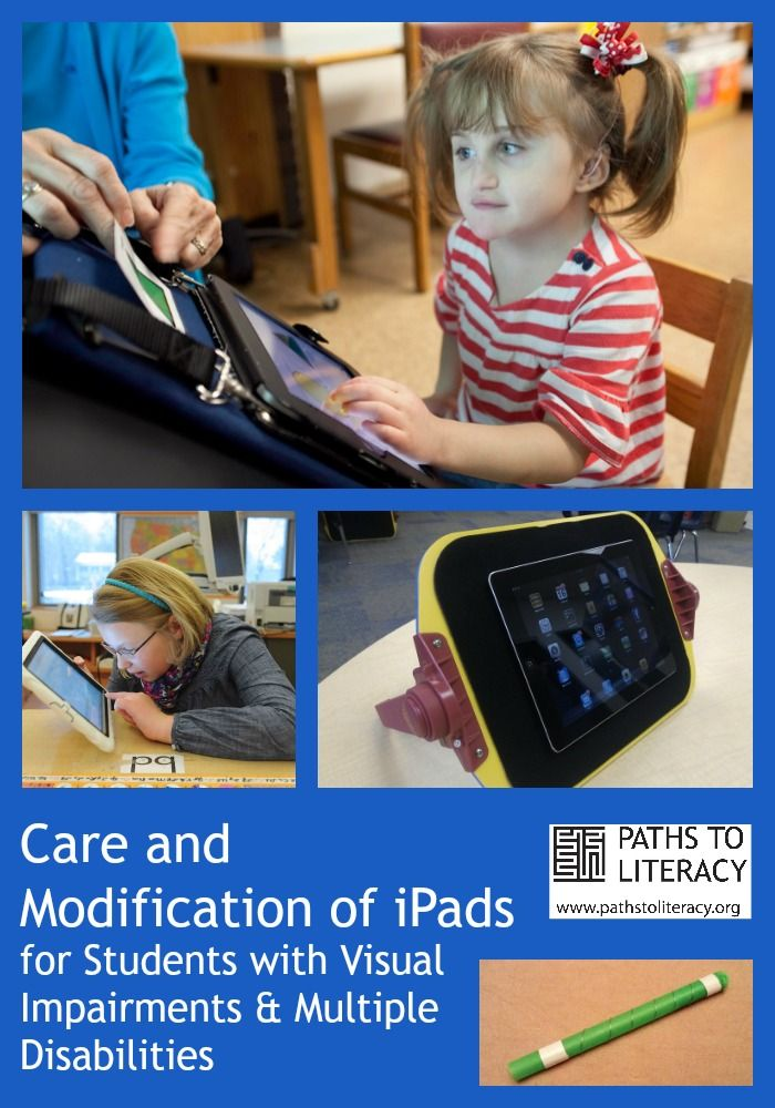 Care and modification of iPads for students with visual impairments and multiple disabilities