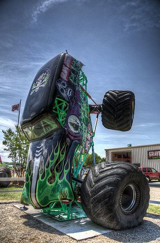 Monster trucks!!! Grave Digger!!