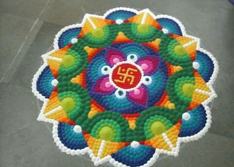 Rangoli with dots...