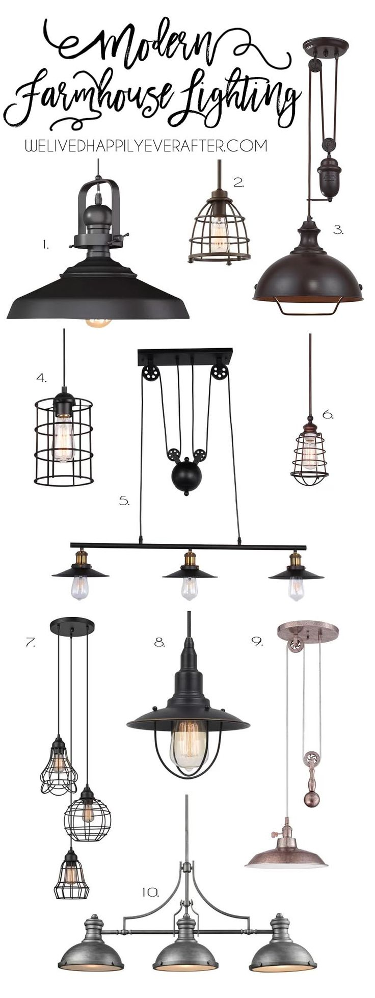 Rustic Industrial Modern Farmhouse Metal Lighting For Your Home Decor- #HannahsFarmhouseFavs
