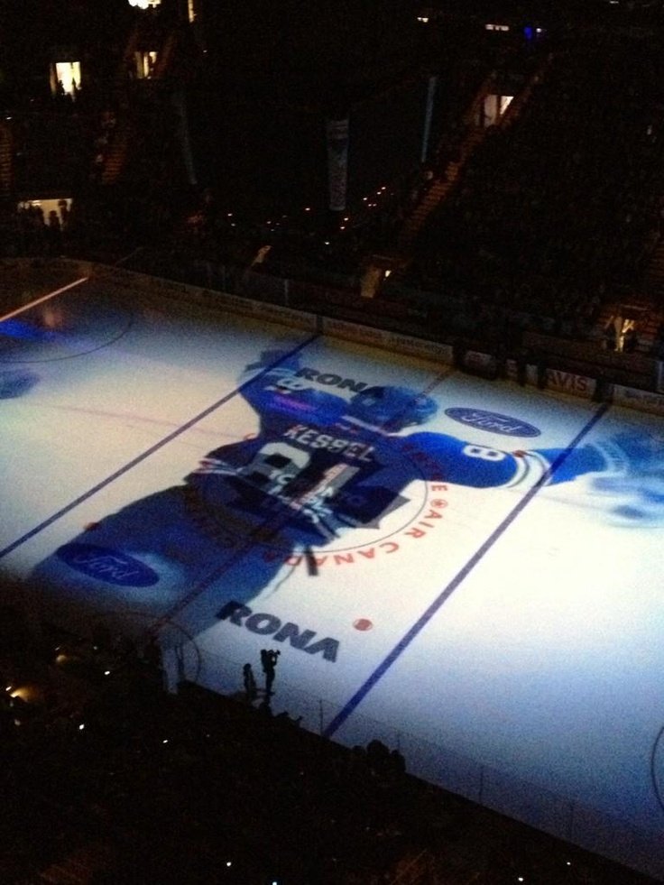 Phil Kessel, larger than life on Leafs ice.