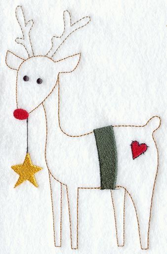 primitive christmas redwork patterns | Machine Embroidery Designs at Embroidery Library! - Star-Carrying ...
