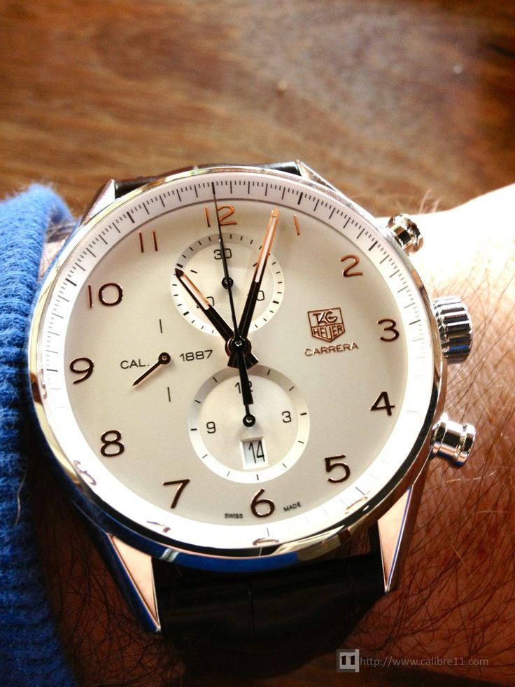 TAG Heuer Carrera 1887 43mm http://www.calibre11.com/review-tag-heuer-carrera-calibre-1887-43mm/ $3,400