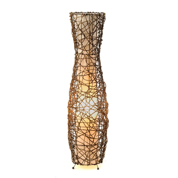 Fluted Rattan Floor Lamp | Kirklands